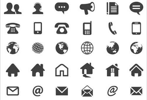Contact icons 19 free sets useful for website design websites and name or contact cards these icons come in vector format so you can edit the default black and white color into any color you want colourmoves