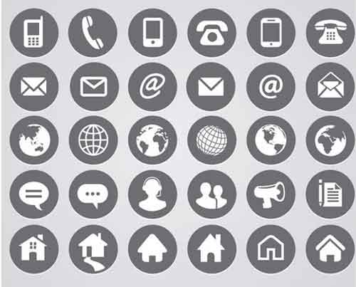 Contact Icons: 19 Free Sets Useful for Website Design: allfreedesigns.com/contact-icons-website-design