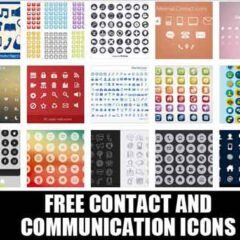 23 Free Contact Icons Useful for Website Design