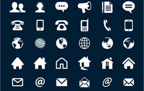 Contact icons 19 free sets useful for website design contact icons reheart Choice Image
