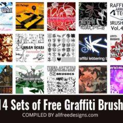 14 Sets of Graffiti Brushes for Photoshop