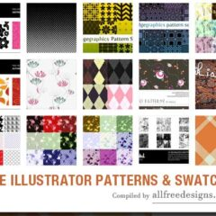 200+ Free Editable Illustrator Patterns and Swatches