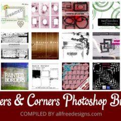 22 Sets of Frame and Border Photoshop Brushes