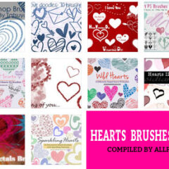 200+ Photoshop Hearts Brushes for Valentine