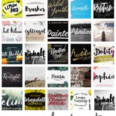 30 Free Paint Brush Fonts for Artistic Designs