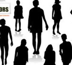 2500 Free Vector People Clip Art in Silhouettes