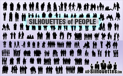 people clip art silhouettes