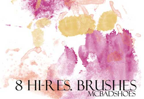 watercolor photoshop brushes