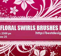 25 Flower Brushes for Photoshop (Part 2)