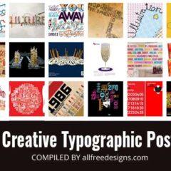 20 Beautiful Typographic Graphic Designs