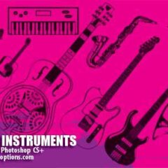 16 Music Clip Art Brushes for Photoshop