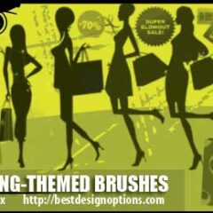 Shopping Clip Art Brushes for Photoshop CS Free to Download