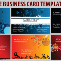 6 Free Business Card Template Designs