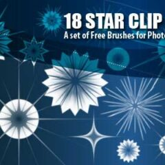 18 Star Clip Art Brushes for Photoshop