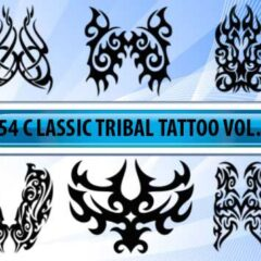 54 Tattoo Designs Photoshop Brushes