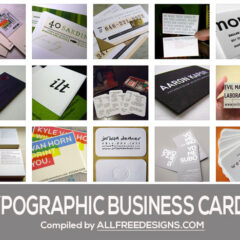 35 Inspiring Typographic Business Cards