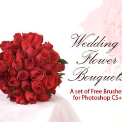 Wedding Photoshop Brushes: 24 Flower Bouquets