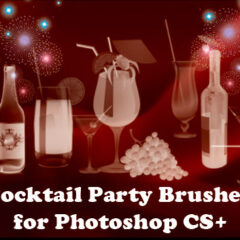 18 Cocktails Clip Art Brushes for Photoshop