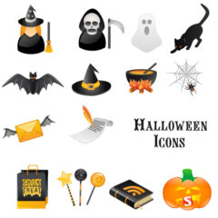 15 Sets of Free Halloween Icons for Websites