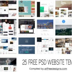 25 PSD Website Templates You Can Download and Use for Free