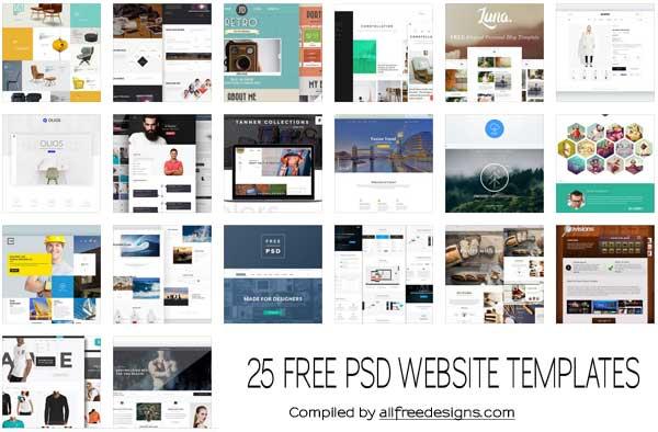 psd website templates