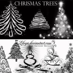 500+ Christmas Clip Art Photoshop Brushes
