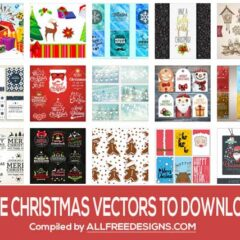 500+ Christmas Vectors for Holiday Designs