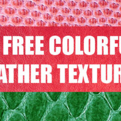 10 Free Colorful Leather Background Textures