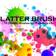 18 Grungy Background Photoshop Brushes Featuring Splatters