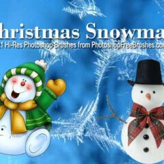 21 Free Snowman Clip Art Photoshop Brushes