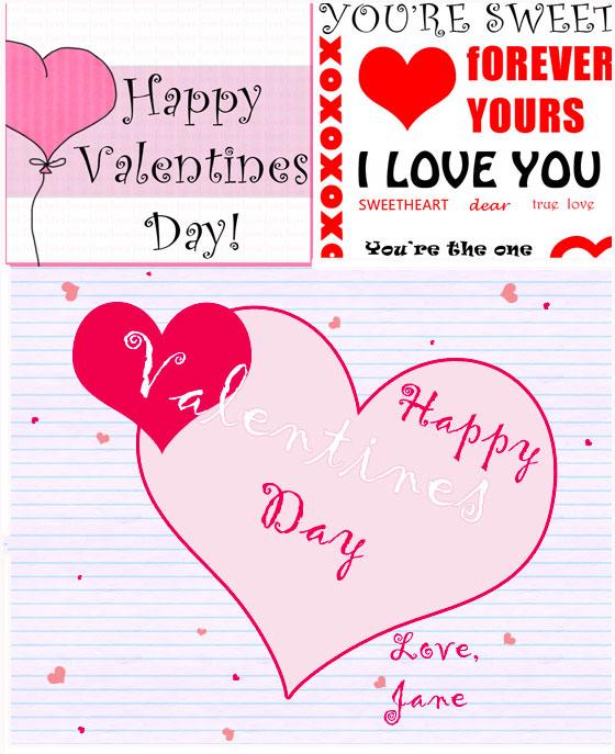 Valentine Card Templates Plus Tutorials for Designing Your Own – Free Valentine Card