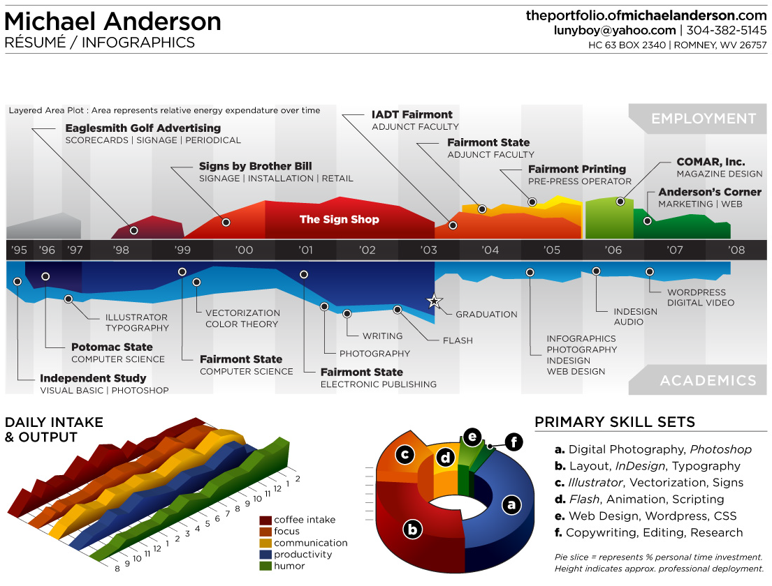Infographic Resume: 35 Creative Examples