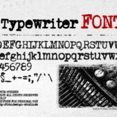 15 Typewriter Fonts for Creating Vintage Designs