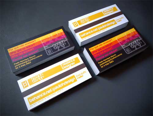 graphic designer business card