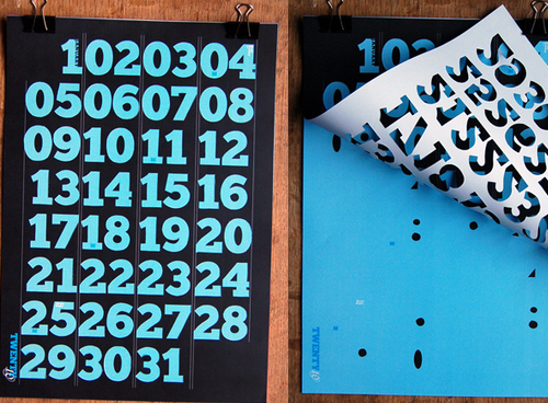 Calendar Typography Examples : Calendar design most creative examples to inspire you