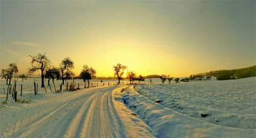 winter scene wallpapers