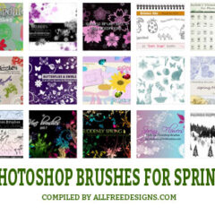 20 Nature Photoshop Brushes About Spring