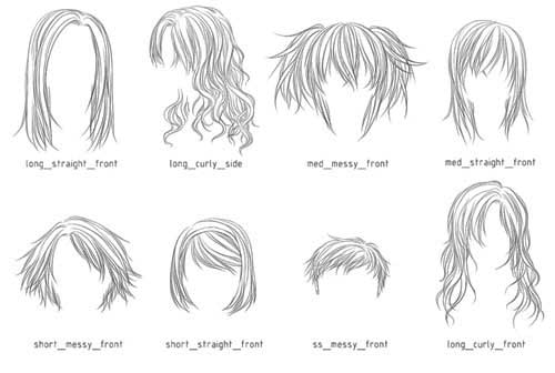 Marvelous How To Draw Short Hair Anime Short Hair Fashions Hairstyles For Women Draintrainus
