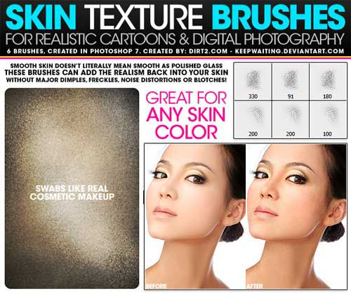 skin photoshop brushes