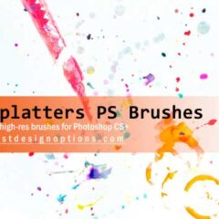 14 Free Paint Splatters Photoshop Brushes and Textures