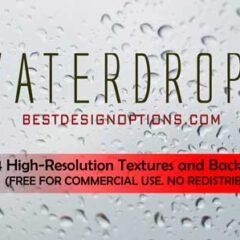 14 Hi-Res Water Drops Background, Textures