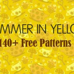 140+ Free Yellow Background Patterns for Photoshop