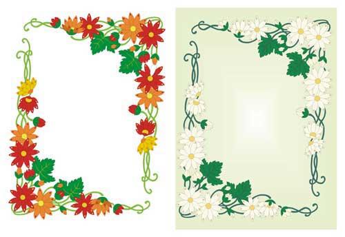 Border clip art 1k tools for making photo frames for Free garden border designs