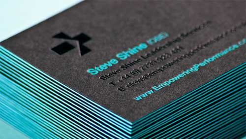 Edge painted business cards 25 letterpress card examples edge painted business cards reheart