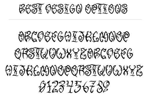 Free Tattoo Fonts With Tribal Designs To Boost Your Font Collection