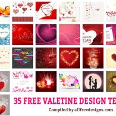 35 Sets of Free Valentine Design Templates in Vector Format