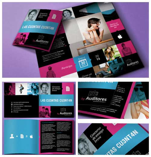 Brochure layout examples 55 inspiring designs to draw for College brochure design ideas