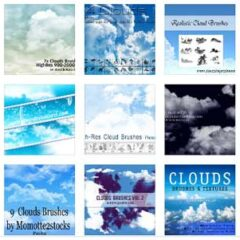 50 Sets of Free Sky and Cloud Backgrounds Photoshop Brushes