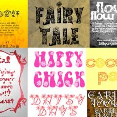 Flower Font for Spring: 38 Free Sets to Download