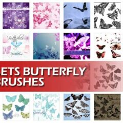 50 Sets of Free Butterfly Brushes for Photoshop